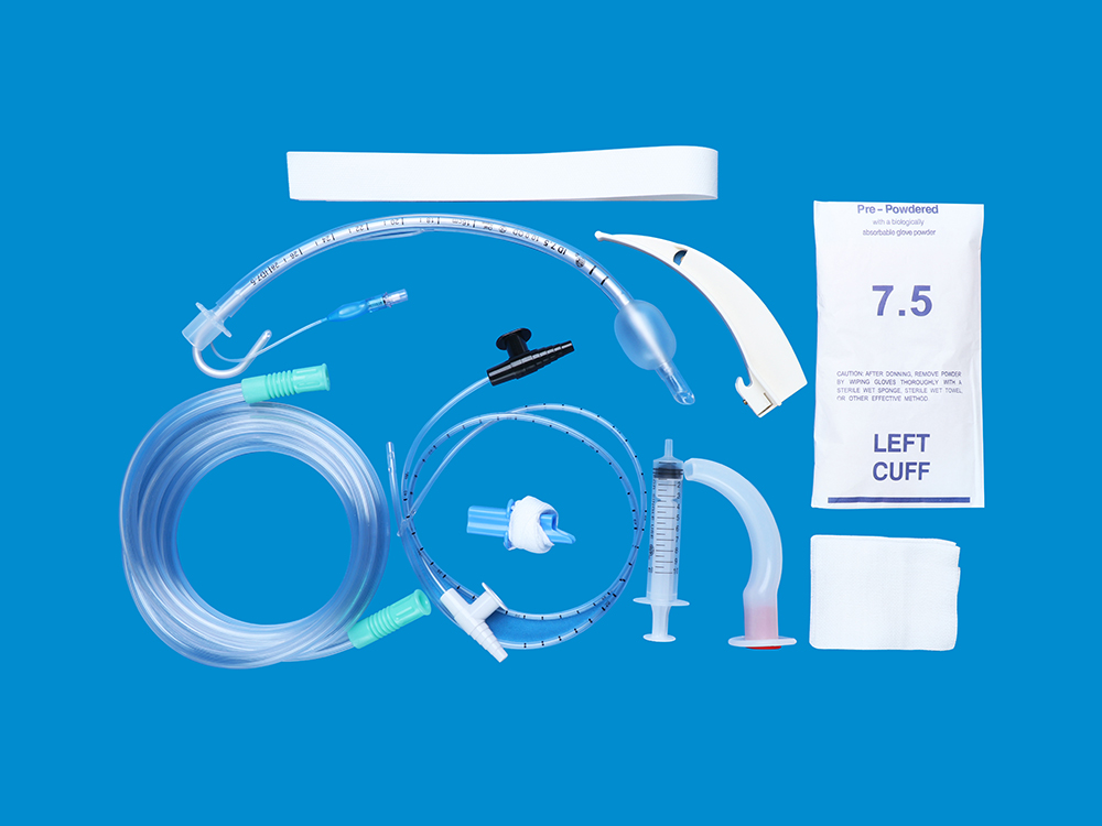 Disposable endotracheal tube set Common type(with column cuff)
